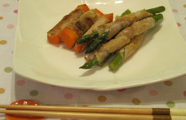 rolled-asparagus-in-pork- Japanese recipe Japanese cuisine