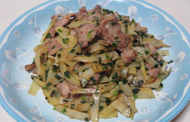 stir-fried-potato-and-pork - Japanese recipe Japanese cuisine